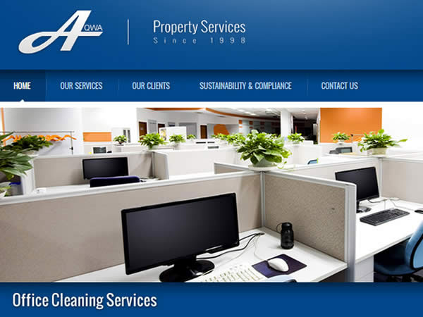 AQWA Cleaning Services Website